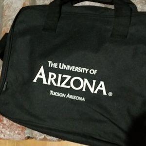 Black nylon University of Arizona laptop bag.